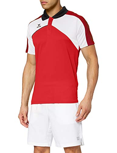 Erima 1111810 Polo Femme Rouge/Blanc/Noir FR : XS (Taille Fabricant : 34)