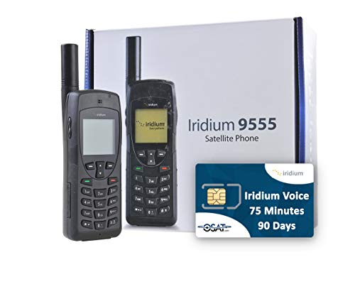 OSAT Teléfono Satelital Iridium 9555 y Tarjeta Prepago SIM con 75 Minutos / 90 Días de Validez