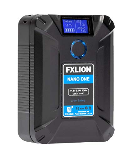 SONGING FXLION Nano ONE V Mount/V-Lock Battery 3400mAh(50Wh/14.8V) with D-TAP,USB-C,USB-A, Micro USB...