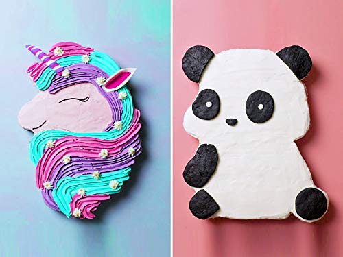 Unicorn, Panda and Puppy Cupcake Cake