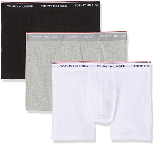 Tommy Hilfiger Herren 3p Boxer Brief Boxershorts, Rosa (Grey Heather 004), M