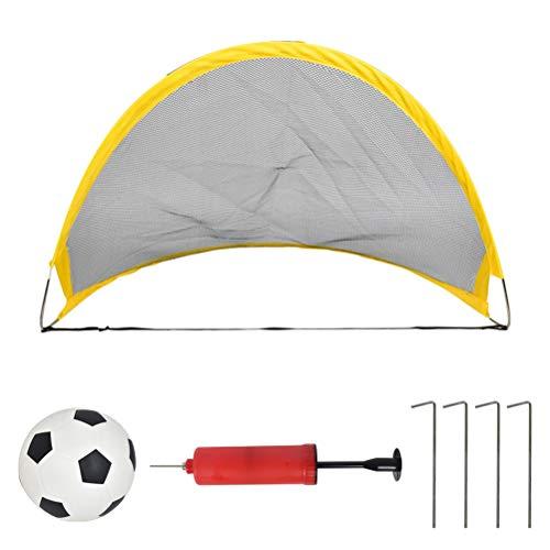 Soccer goals, soccer goals pop up soccer practice gate and air pump kids indoor outdoor toys for garden, beach, outdoor activities, indoor 68 * 39 * 33cm