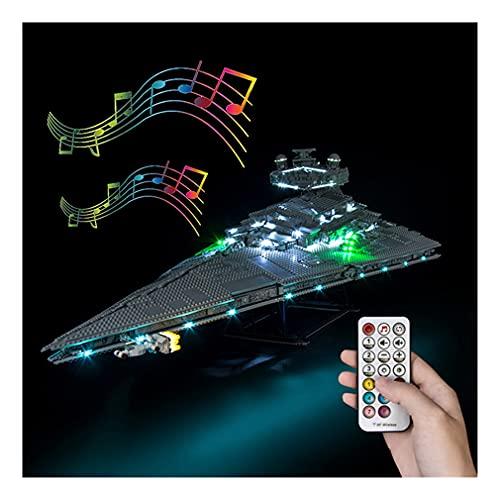 LAIQIAN Set di luci a LED per Modello Lego Technic Star Wars Imperial Star Destroyer con Telecomando, Set di luci Compatibile con Il Modello Lego 75252 - Senza Set Lego