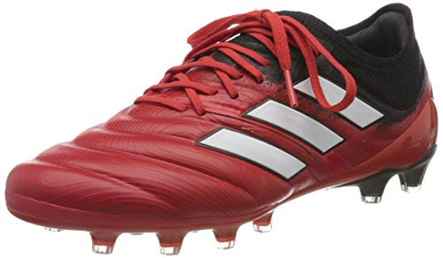 adidas Mens Copa 20.1 AG Football Shoe, Active Red/Footwear White/Core Black, 45 1/3 EU