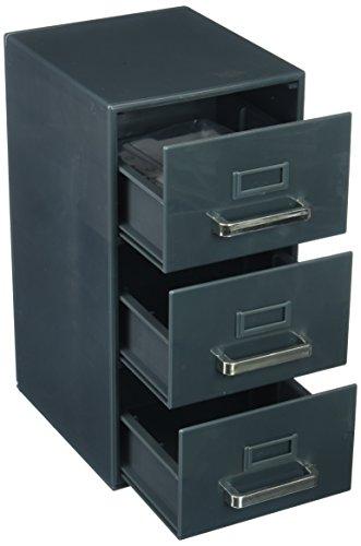 "Forum Novelties 3-Drawer Mini Filing Cabinet 9""H x 5.5""D x 4.5""W"
