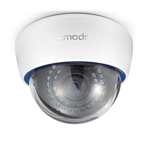 ZMODO ZP-IDR13-PA 720P HD PoE IP Netzwerk Haubenkamera mit Audio