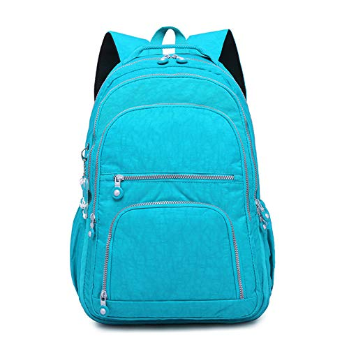 Qyeeypoc Backpacks for Men and Women, Backpacks, Practical Outdoor Travel and Leisure, Washable Nylon Blue