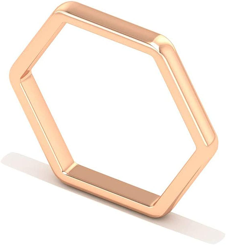 Honeycomb Stackable Ring Geometric Ring Sterling Silver Simple Ring Modern Minimal Ring Hexagon Ring