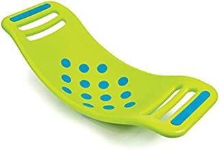 Fat Brain Toys Teeter Popper with Handles, Plastic Concave Balance Board for Children, Green