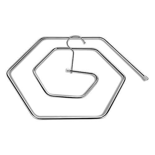 MZY1188 Perchas en Forma de Espiral, Estante de Secado Hexagonal de Acero Inoxidable para Manta de edredón de Patio Interior al Aire Libre Ahorre Espacio Ropa Airer
