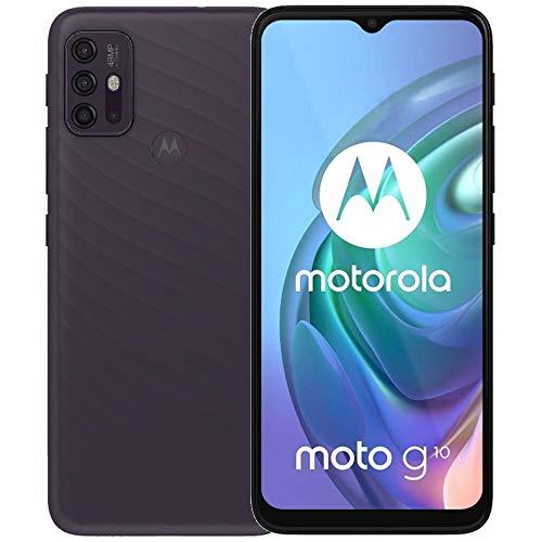 Moto G10 (128GB, 4GB) 6.5  HD+, 5000mAh Battery, 48MP Quad Rear Camera, Dual SIM GSM Global Unlocked 4G LTE (T-Mobile, AT&T, Metro) International Model XT2127-2 (Fast Car Charger Bundle, Aurora Grey)