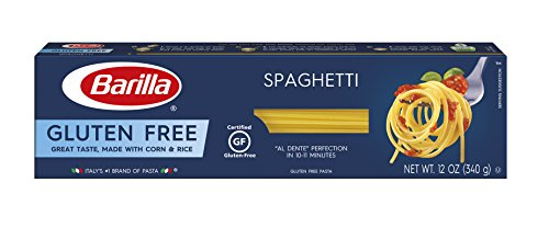 BARILLA Gluten Free Spaghetti, 12 Ounce (Pack of 4/12) - Non-GMO Gluten Free Pasta Made With Blend of Corn & Rice - Vegan Pasta