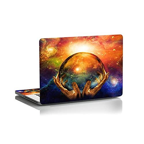 DIY hermoso paisaje cubierta de la etiqueta engomada del ordenador portátil estilo simple piel corte precisión repetido pasta para Lenovo Apple Mac Dell Asus Ace-negro tamaño personalizado