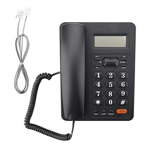 Teléfono, teléfono con cable, teléfono con cable para oficina en casa, pantalla de identificación de llamadas, teléfono fijo con función de rellamada para oficina en casa, teléfono de negocios