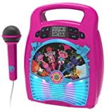 EKids- Trolls 2 World Tour - Máquina de Karaoke, Color Rosa (TrollsWorld Boombox TR-553)