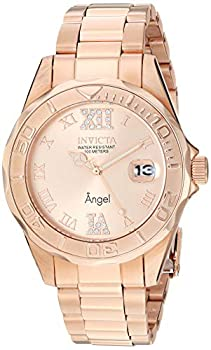 Invicta Women s Angel 38mm Rose Gold Tone Stainless Steel Quartz Watch Rose Gold  Model  14398
