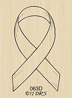 Support Ribbon Rubber Stamp By DRS Designs
