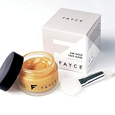 24K Gold Face Mask by Fayce - Luxury Lift and Glow - Collagen and Hyaluronic Acid for Anti-Ageing and Radiant Skin - Face Mask Brush Included - Natural, Cruelty-Free, Unisex - 50ml