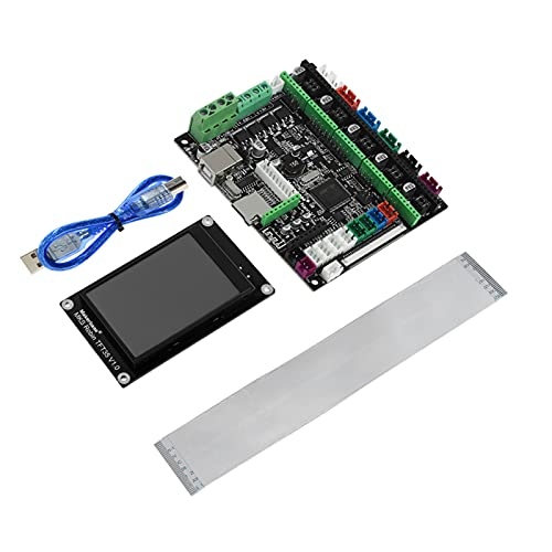Fesjoy 3D Printer Motherboard, 3D Printer Board STM32 MKS Robin Nano Board V1.2 Hardware Open Source(Support Marlin 2.0) Support with 3.5 Inch Touchscreen USB Cable