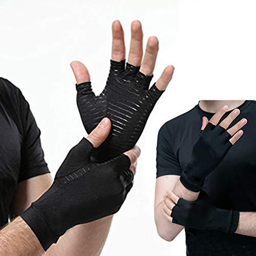 Auplew Kupfer Kompressions Arthritis-Handschuhe Sporthandschuhe für lindern Schmerzen bei Rheuma Karpaltunnel 1 Paar