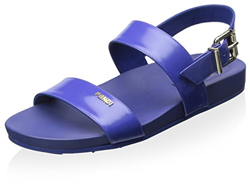 FENDI Flache Damen-Sandalen, (blau), 40 EU