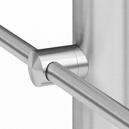 Support de barre transversale en acier inoxydable V2A (raccord Ø 42,4 mm, alésage Ø 12,2 mm