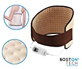 Boston Tech WE-116 Almohadilla Electrónica Lumbar de 29x69cm, superficie suave de microfibra, 3 niveles de temperatura, display iluminado, cinturón con velcro, Lavable a máquina