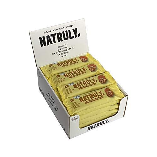NATRULY Barritas Energéticas BIO Zanahoria + Nueces Sin Azúcar Añadido, 100% Natural y Orgánicas, Sin Gluten, Vegana -Pack 12x40g