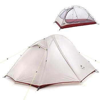 NH Version Mise à Jour 2 Personne Tente de Trekking, Tente Imperméable Éextérieure Double Couche 20D Tente de Camping en Silicone pour Randonnée Voyage Alpinisme