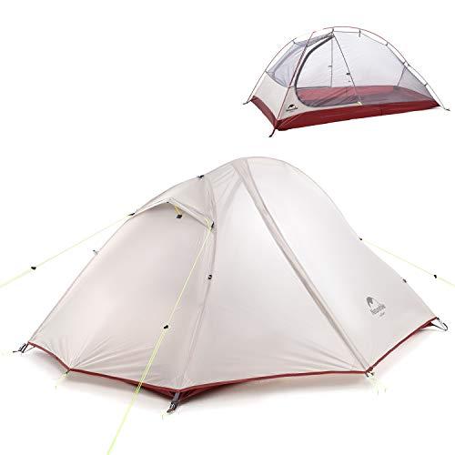 NH Versione Aggiornata Tenda da Trekking per 2 Persone, Tenda All aperto da Campeggio Impermeabile in Silicone 20D a Doppio Strato per Escursionismo Alpinismo Viaggio