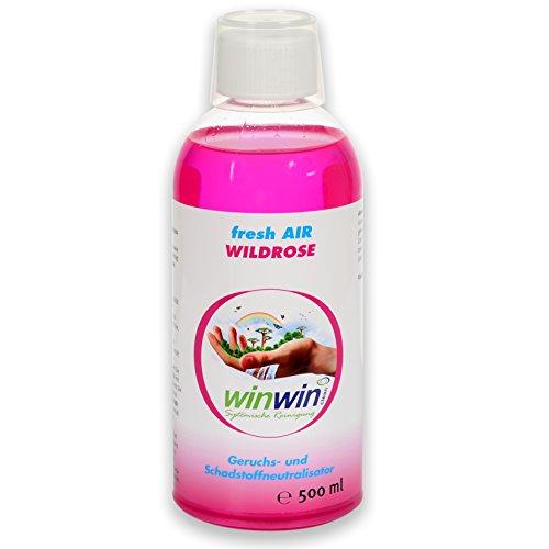 winwin clean Systemische Reinigung - LUFTREINIGUNGS-Konzentrat Fresh AIR 'WILDROSE' 500ML I