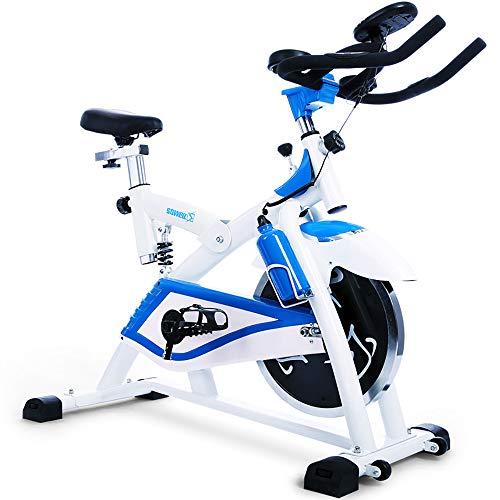FGONG Vélo de vélo d'intérieur Stationnaire Santé et Remise en Forme Entraînement par Courroie magnétique Vélo de vélo d'intérieur Siège réglable Facile avec Volant et Grand Porte-Appareil