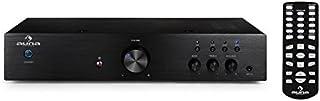 auna AV2-CD508 • Amplificador de Alta definición • Sonido Hi-fi • HomeCinema estéreo • Ecualizador de 2 Bandas • Rendimiento 600W • Entrada AUX • Ajuste de Graves y Agudos • Mando a Distancia • Negro