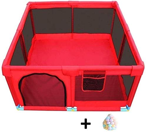 Fence Game Fence Indoor Home Baby Safety Fence Baby Toddler Fence Safety (Couleur: Rouge-a)