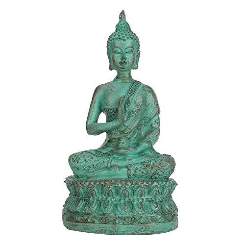 Hztyyier Estatua de Buda Sakyamuni Buda Imitación Estatuilla Decorativa de Cobre Artesanía de Resina tailandesa Ornamento(Bronce)