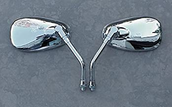 i5 Chrome Cruiser Mirrors to fit Honda Kawasaki & Suzuki 10mm Handlebar Mount