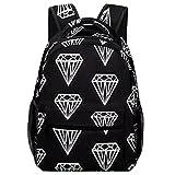 Mochila escolar Black Diamond Backpack Bookbag Teens Childrens Adjustable School Bag College Students For Book, Clothes