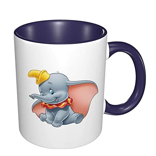 N\A Taza de café Grande Dumbo, Tazas de cerámica, Taza de té para Mujeres, Hombres, niños, niñas, Azul 43WTF3