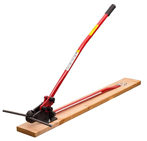 HIT Tools 22-RC16W-3 Rebar Cutter and Bender on Wooden Board, 5/8