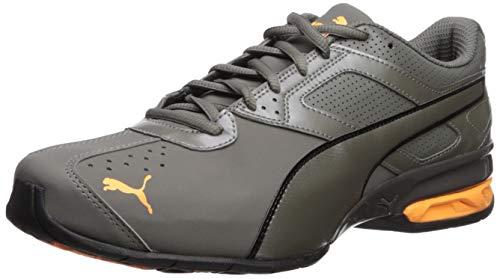 PUMA Men's Tazon 6 FM Sneaker, Charcoal Gray-Orange pop, 12 M US