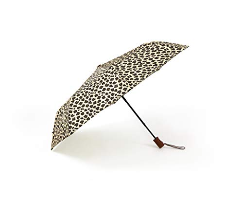Sage & Emily unisex adult Compact Umbrella, Cheetah, One Size US