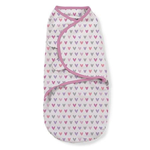 SwaddleMe ** Original Swaddle Größe S 0-3 Monate ** Pucksack/Schlafsack für unruhige Babys und Schreibabys (Love you)