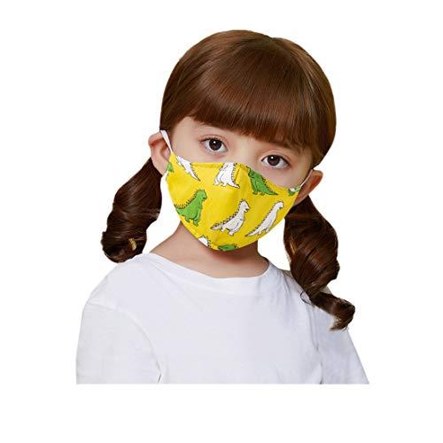 PPangUDing Kinder Mundschutz Waschbar Wiederverwendbar Baumwolle Atmungsaktive Staubdicht Bandana Halstuch Multifunktionstuch Schlauchschal für Jungen und Mädchen