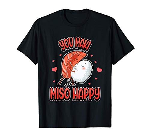 Sushi japonés del día de San Valentín You Maki Miso Happy Camiseta