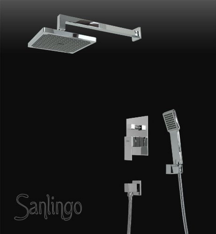 Concealed Shower set Arm Hand Rain shower Holder Digreener Tap Hose Chrome