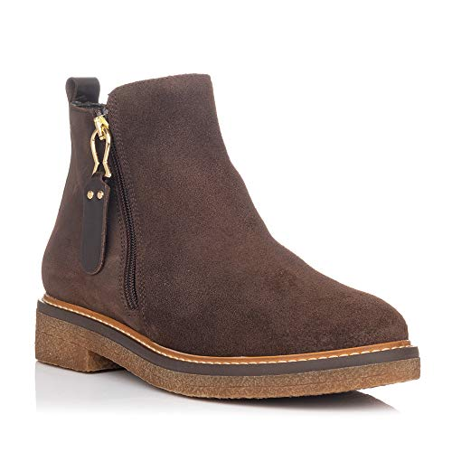 ZAPP 9075 Flache Boots braun, Braun - braun - Größe: 39 EU