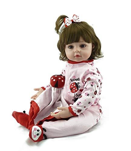 LIUCY 58 Cm Zeer Grote 6-9 Maanden Herboren Tollder Pop Levensechte Pasgeboren Baby Bebe Kid Speelgoed Meisje Siliconen Reborn Babypoppen