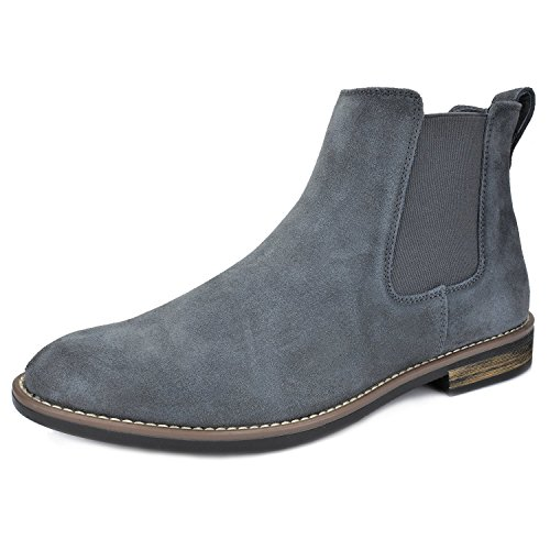 Bruno Marc Men's Urban-06 Grey Suede Leather Chukka Ankle Boots - 12 M US