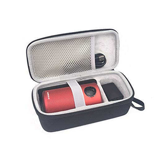 Esimen Hartschalen-Reisetasche für Nebula Capsule Smart Mini Projektor von Anker und Fernbedienung USB Flash Drive Zubehör Tragetasche Schutzbox (verbesserte Version)