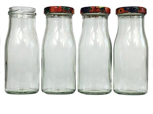 Glasflaschen Set mit Schraubverschluss Gold | 10 teilig | Füllmenge 150 ml | Epical Saftflaschen Setzen Sie ganz einfach Ihr eigenes Öl Schnäpse und Liköre an
